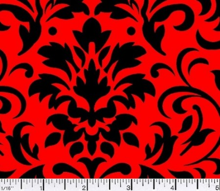 02 Damask Delight Black On Red
