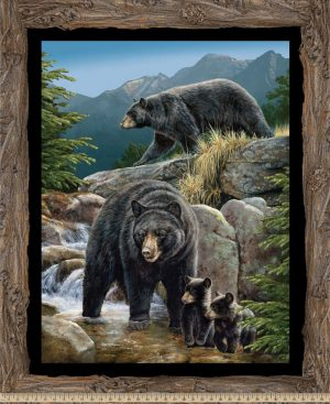 Cool Waters Bear Wallhanging