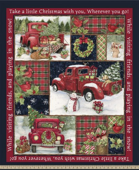 Red Truck Collage Panel